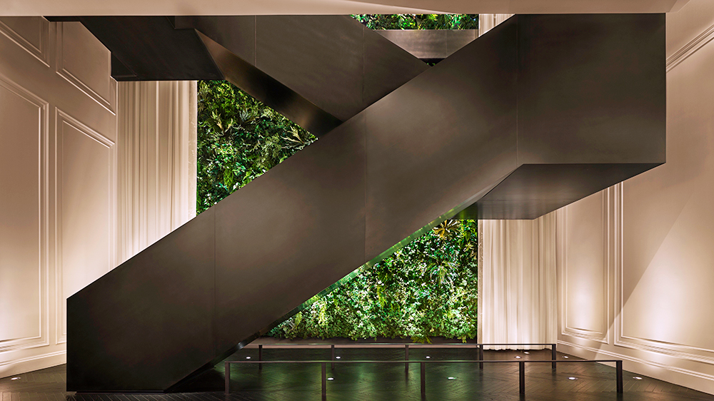 BLOOMBERG  / 2019 / Times Square Edition by Ian Schrager / Feature staircase, public space architectural metals