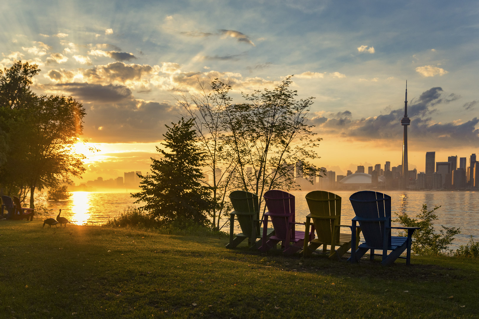 Sunset from the Toronto Islands