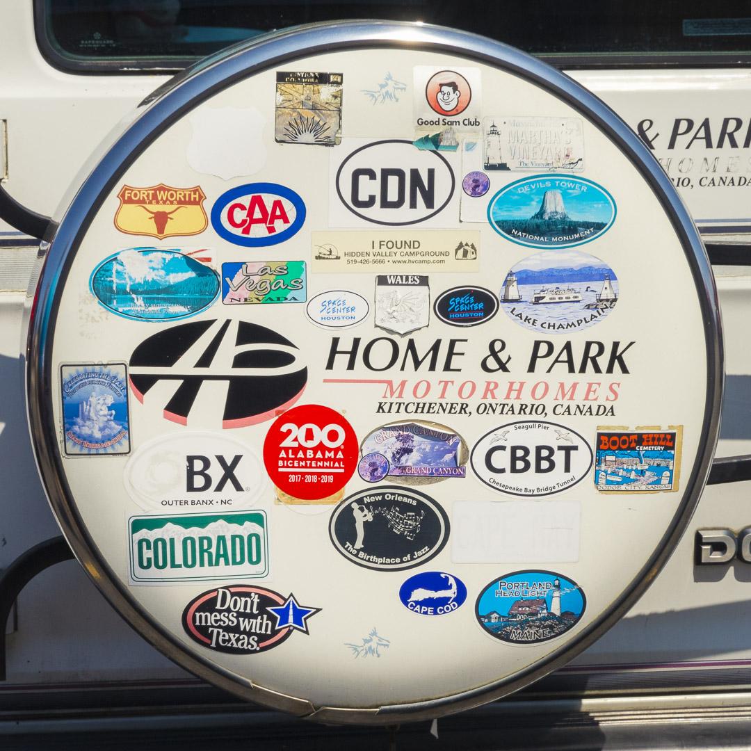 Bumper Stickers on a Motorhome