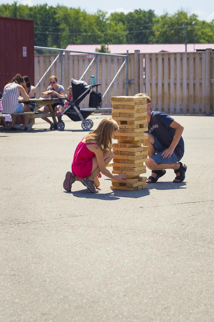 Kids Playing Jenga