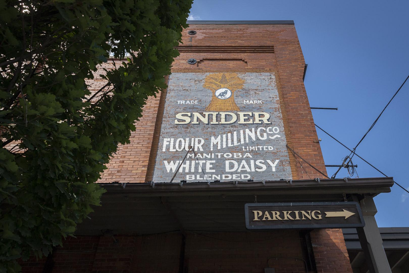 Mural on the Pioneer Roller Flouring Mills
