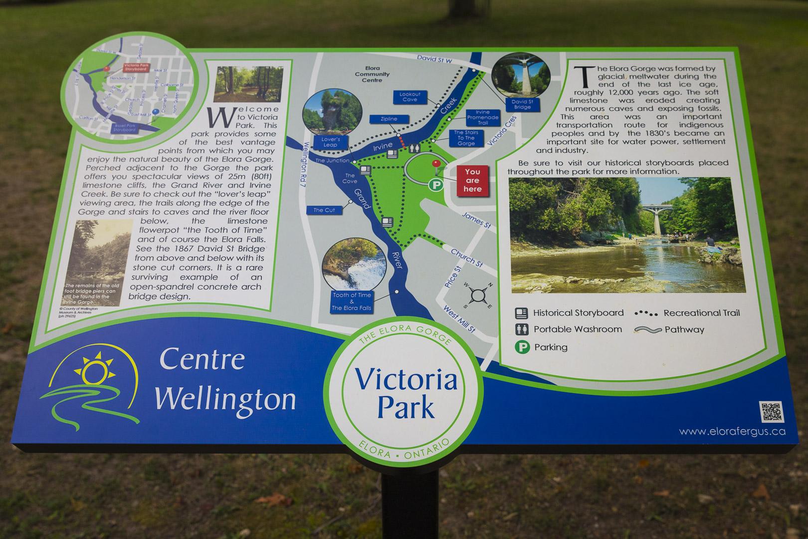 Victoria Park Plaque