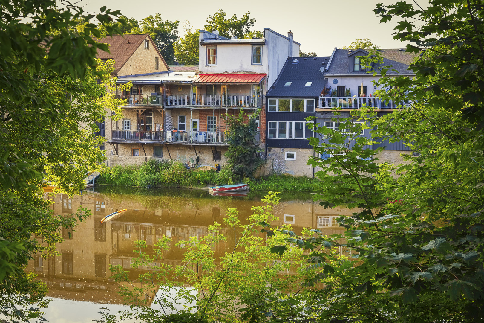 Homes along the Grand River