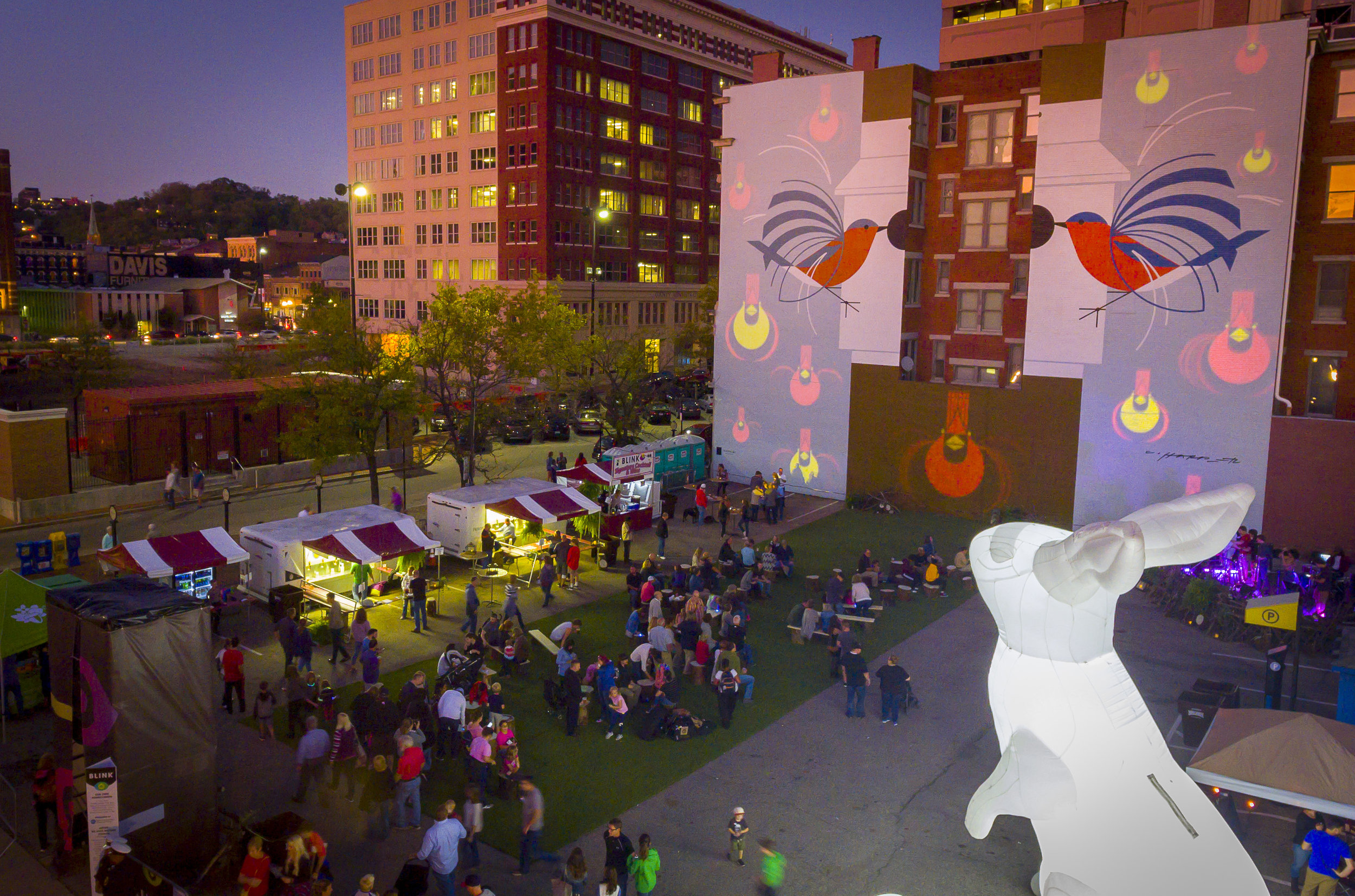 Aerial View of our Installation - Alongside Charlie Harper, Amanda Parer and We Have Become Vikings