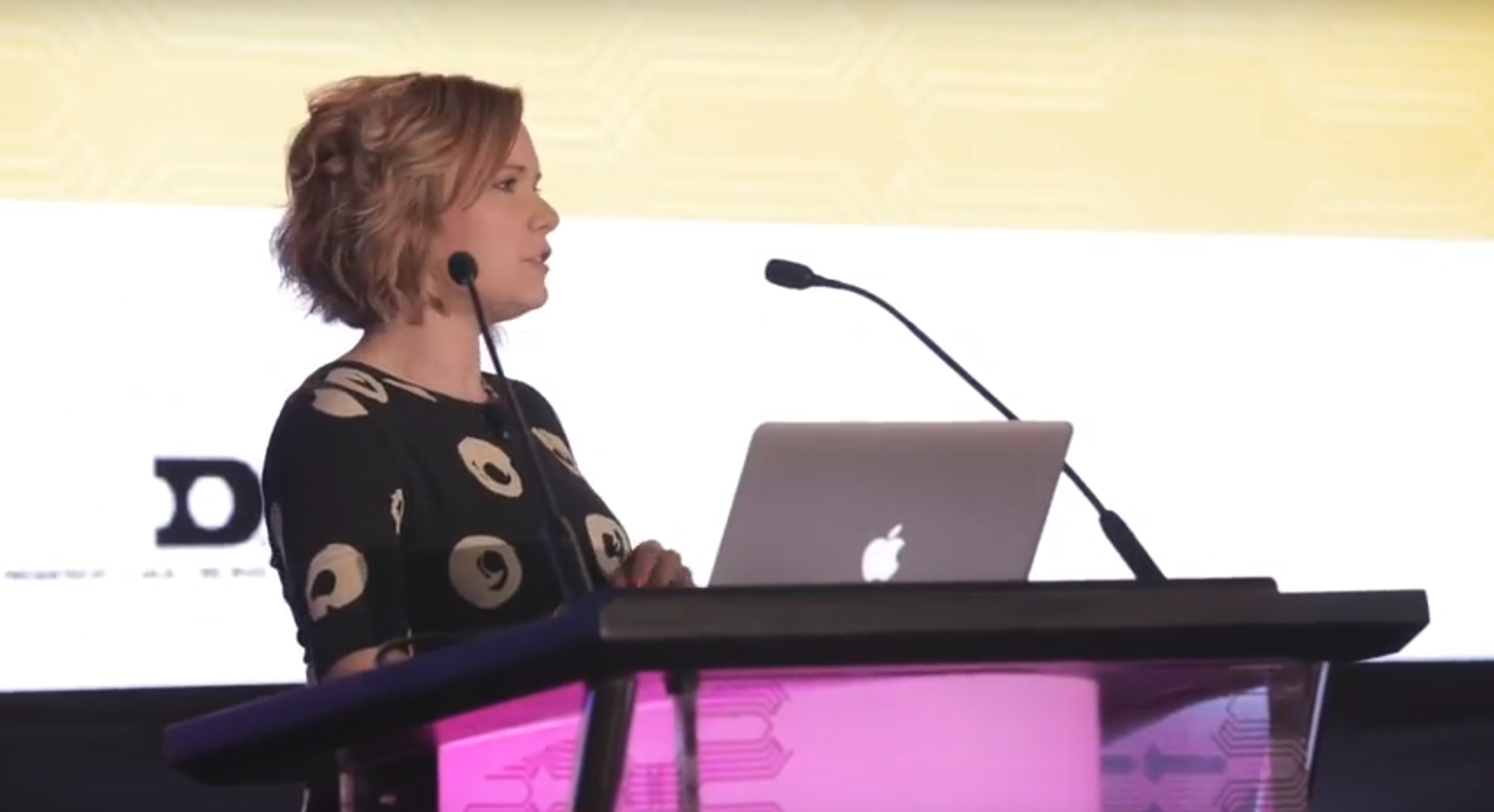 Hannah presenting at the 2017 SEGD Conference