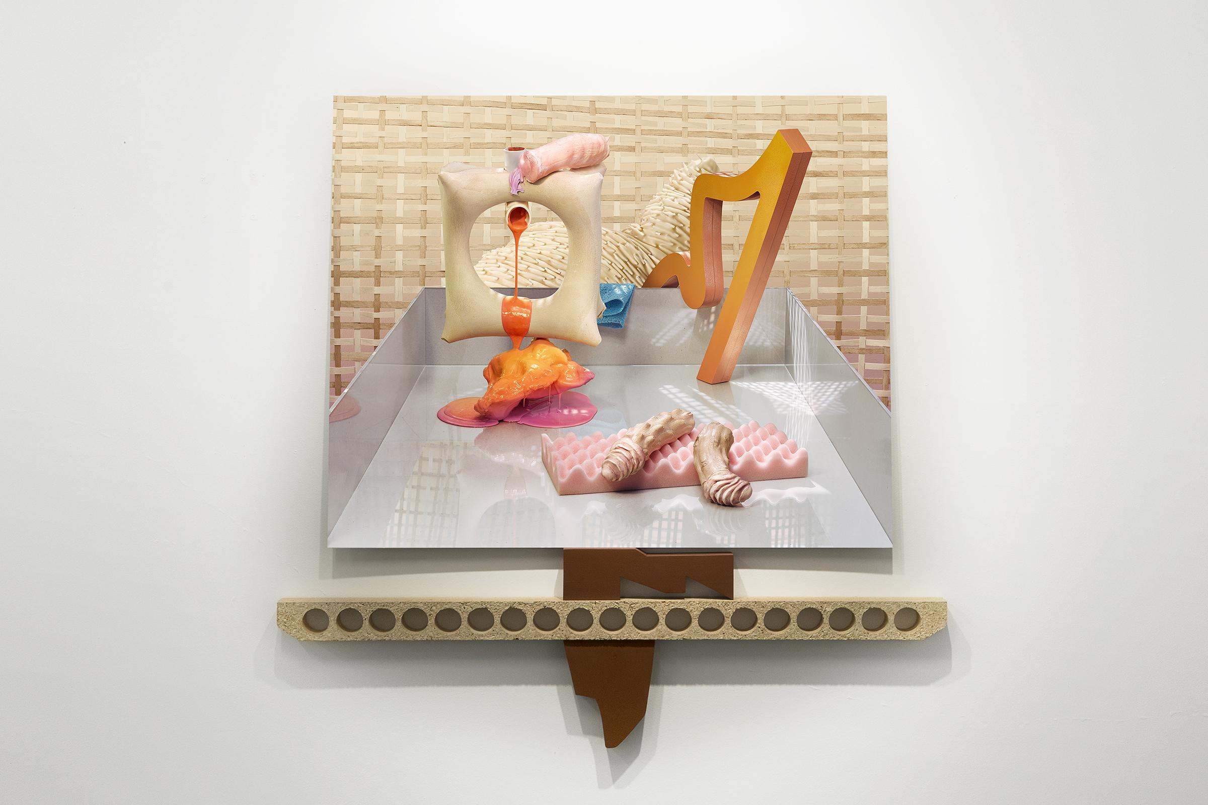 Postmodern Affair, C-type print on aluminium and wood 2014