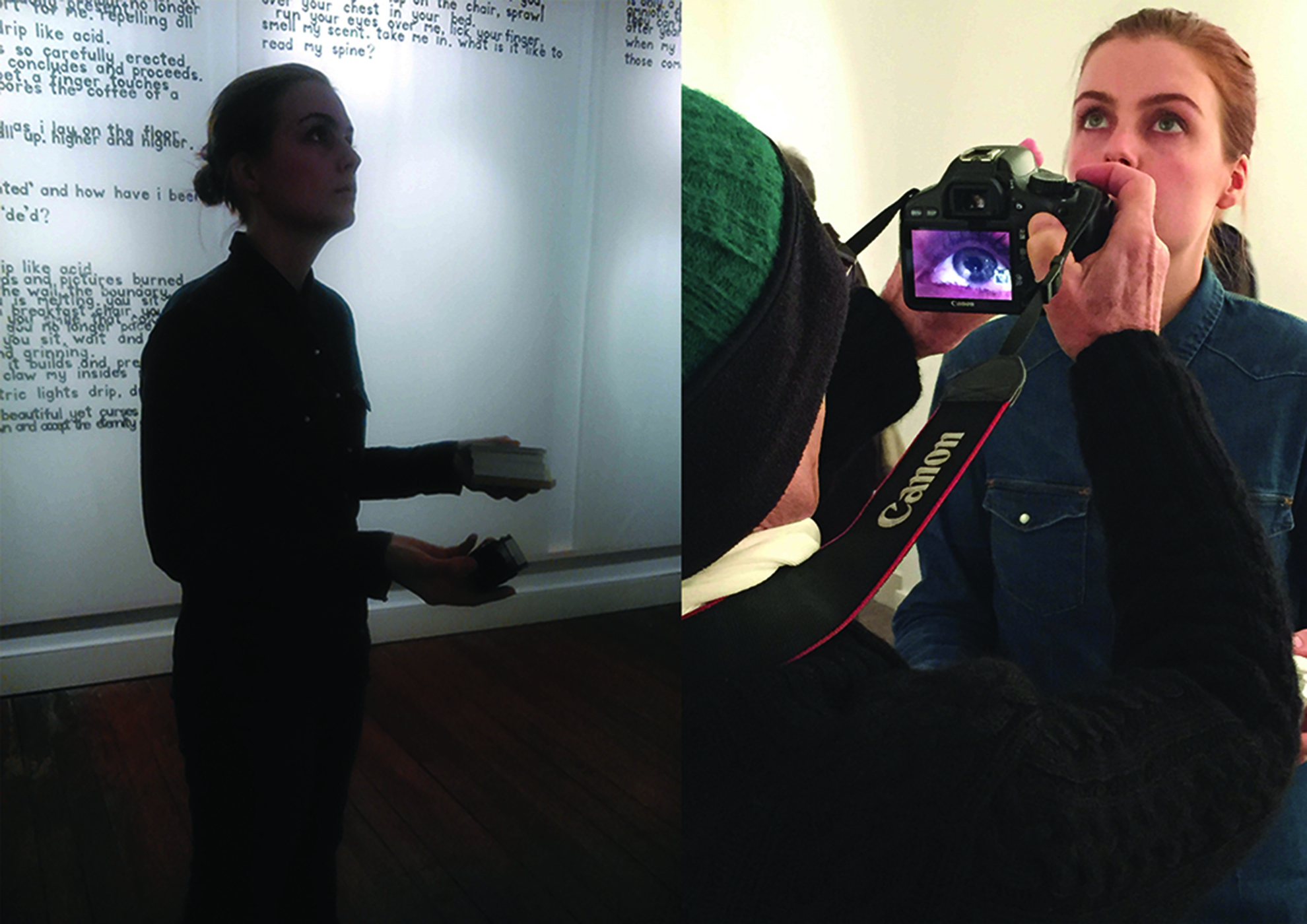 Coming Soon, endurance performance, 6 hours duration, 2016 (photographs courtesy of Meike Brunkhorst and Lorraine Fossi)