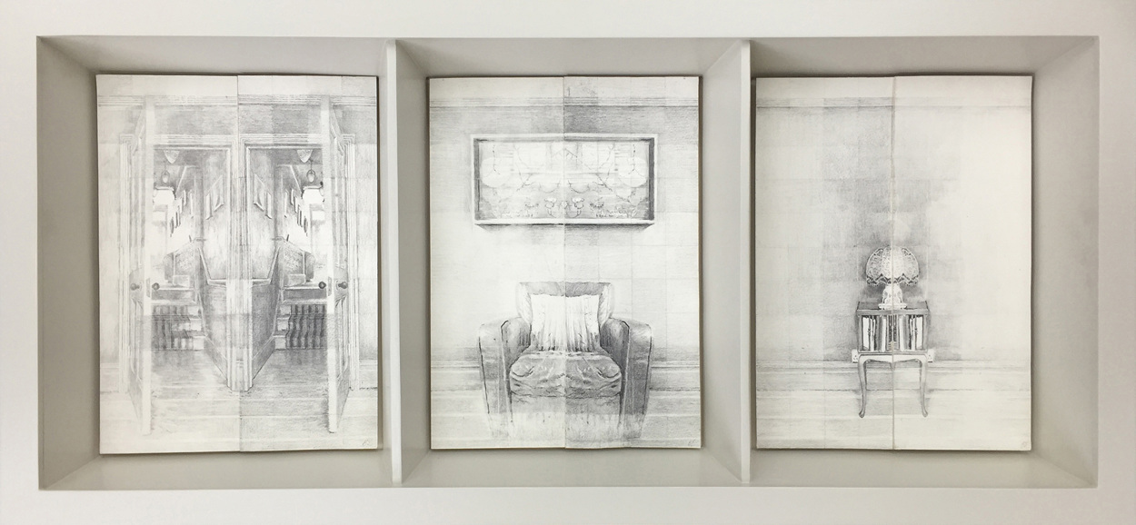 MYRIORAMA ROOM SERIES, 2014, Graphite on 400gsm Velin Arches, 21 x 29cm