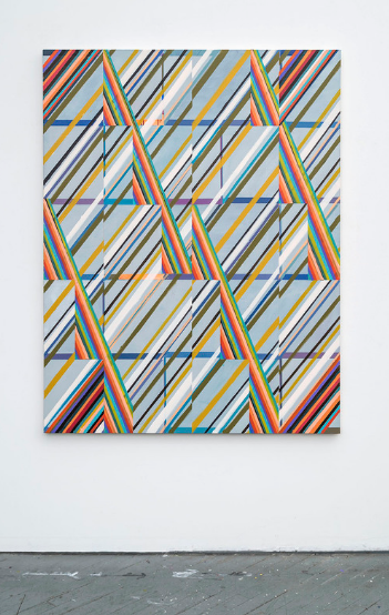 Hot Corners, 2016,Acrylic and colored pencil on canvas,60 x 46 1/2 inches