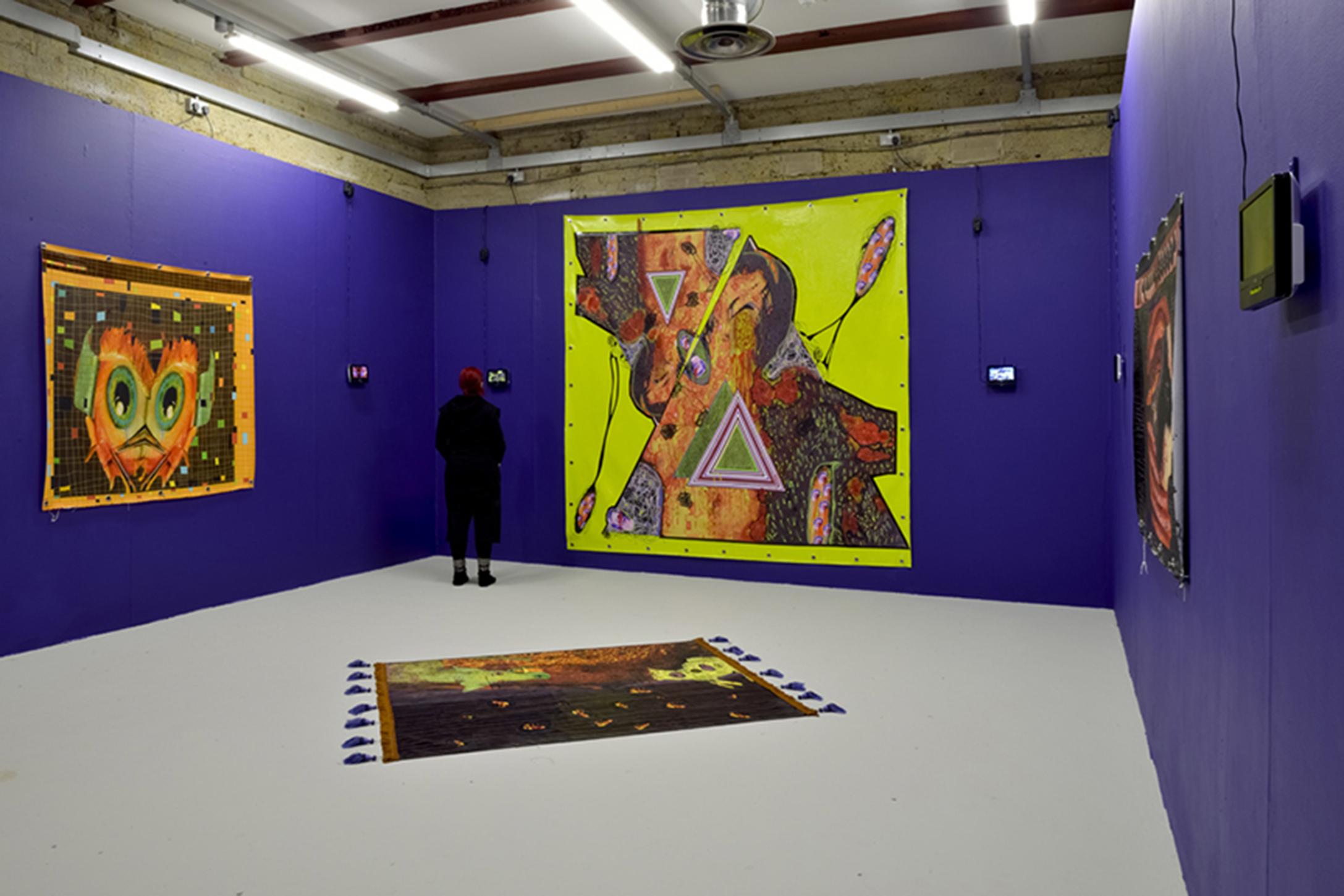 Goldsmiths MFA install, 2014