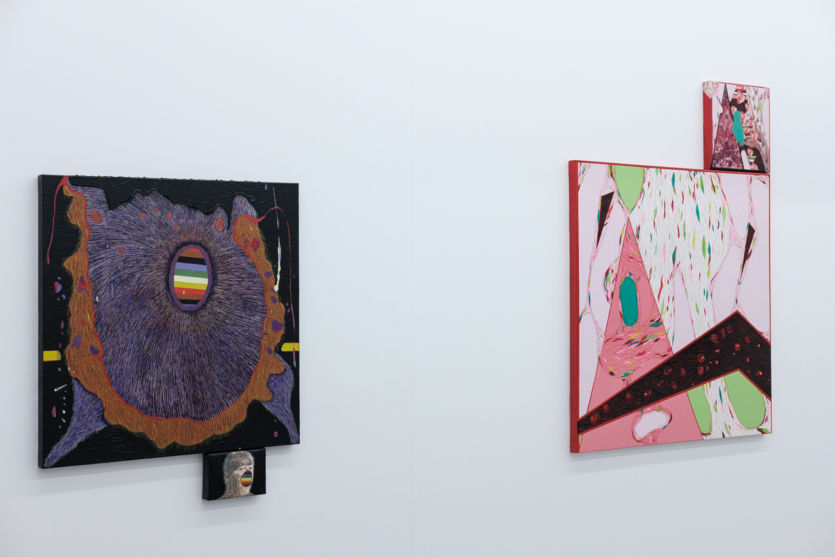 Wolfchild (left)Inferior Vena Cava (right), Griffin Art Prize, 2016