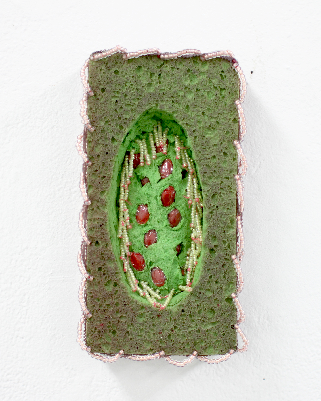 Porous Painting, Cranberry Pills, 2016