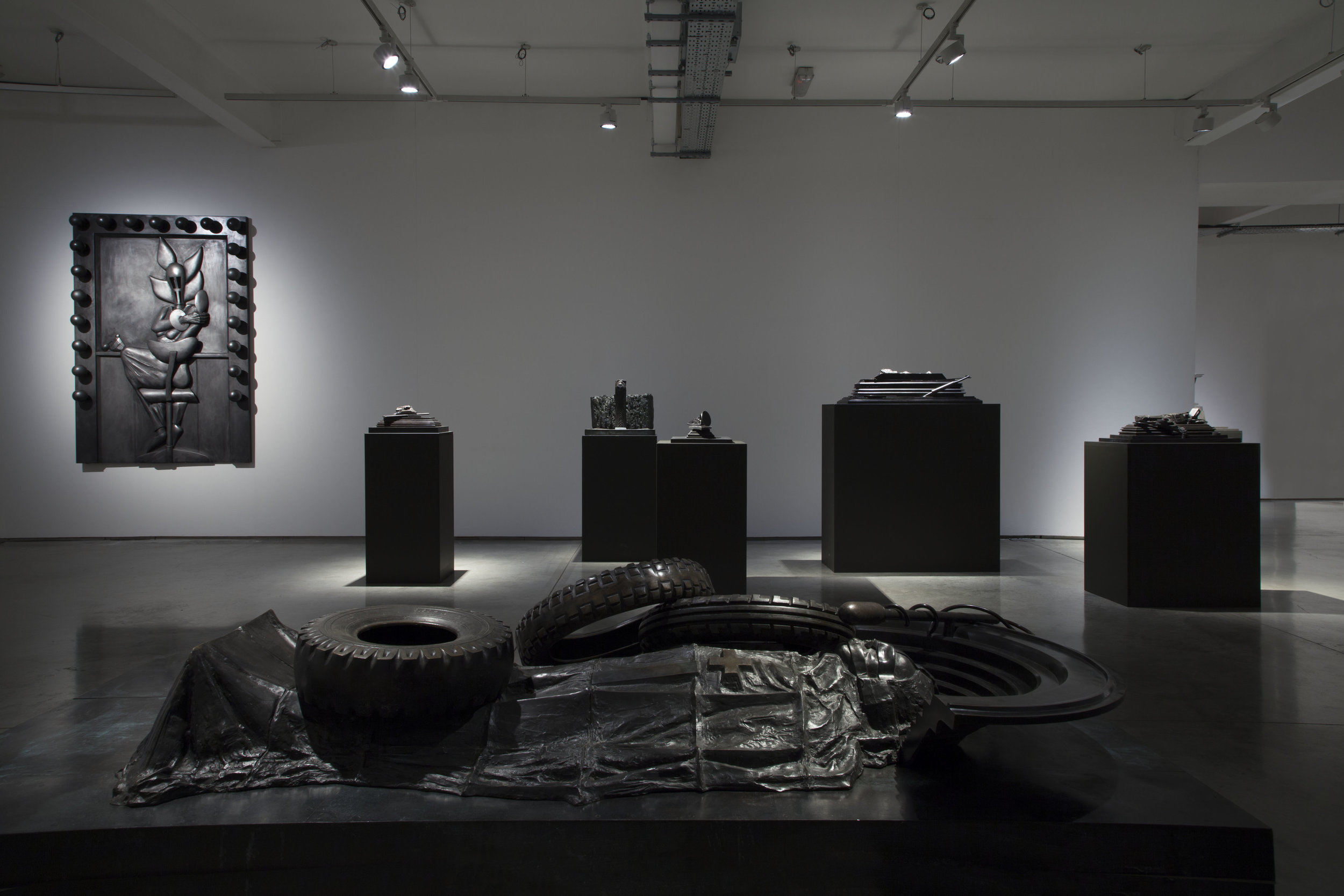 Michael Sandle, Time Transition and Dissent, Installation shot
