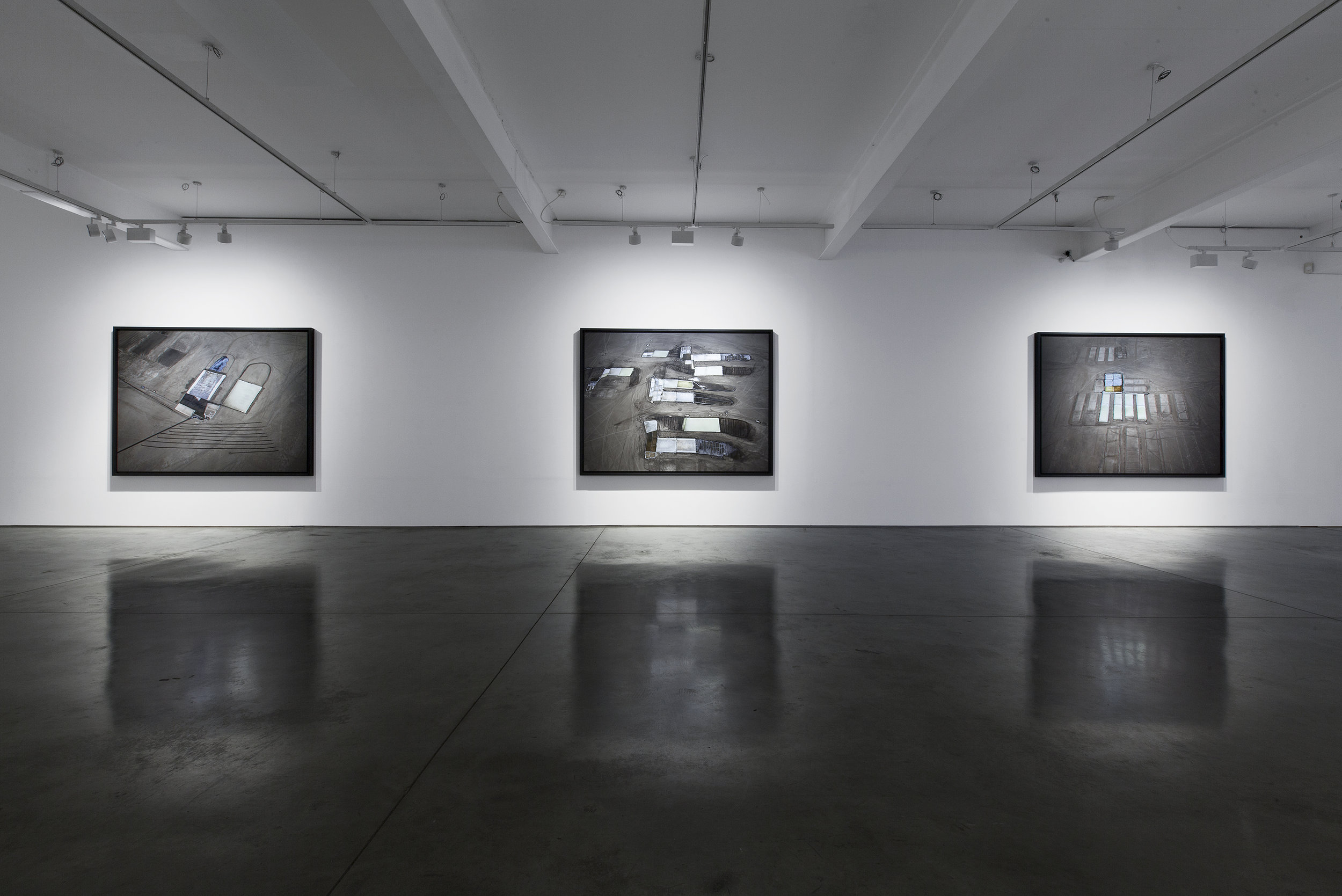 Edward Burtynsky, Salt Pans, Installation view, Flowers Gallery 2016