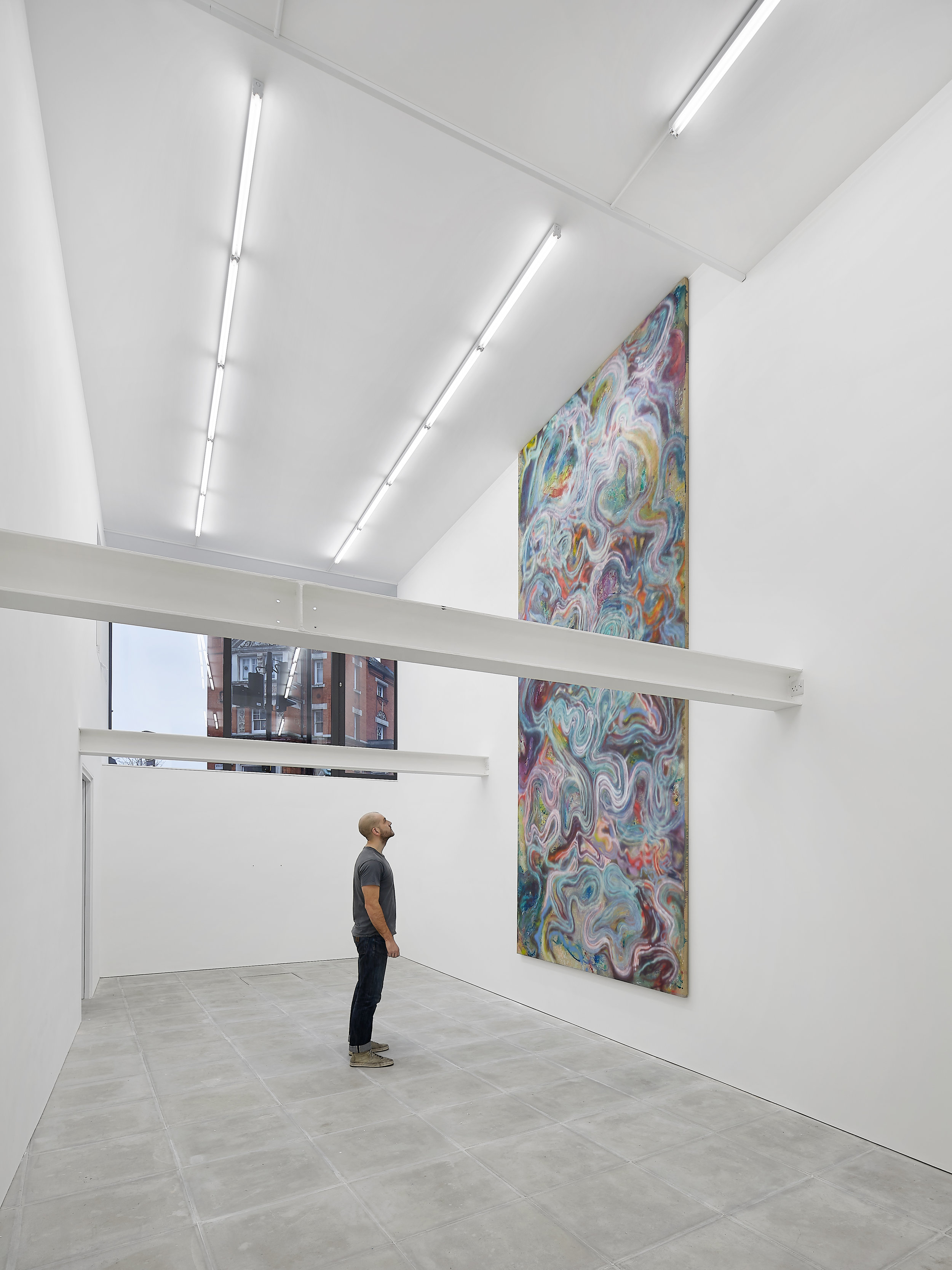 """""""will always be the opposite"""" install shot at The Sunday Painter, 2018"""