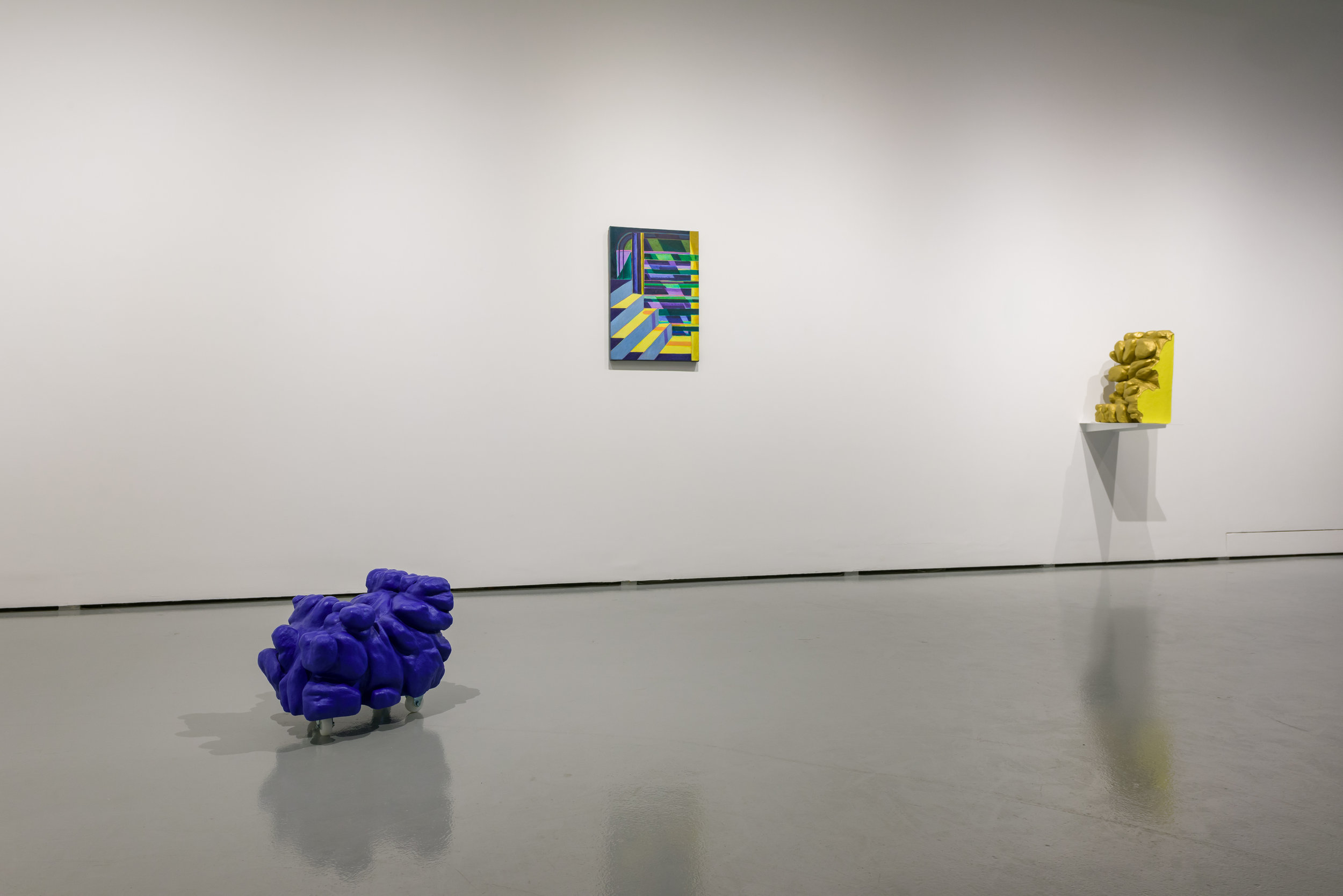 Installation view of 'head heap heat' at the Institute of Contemporary Arts Singapore, 2018