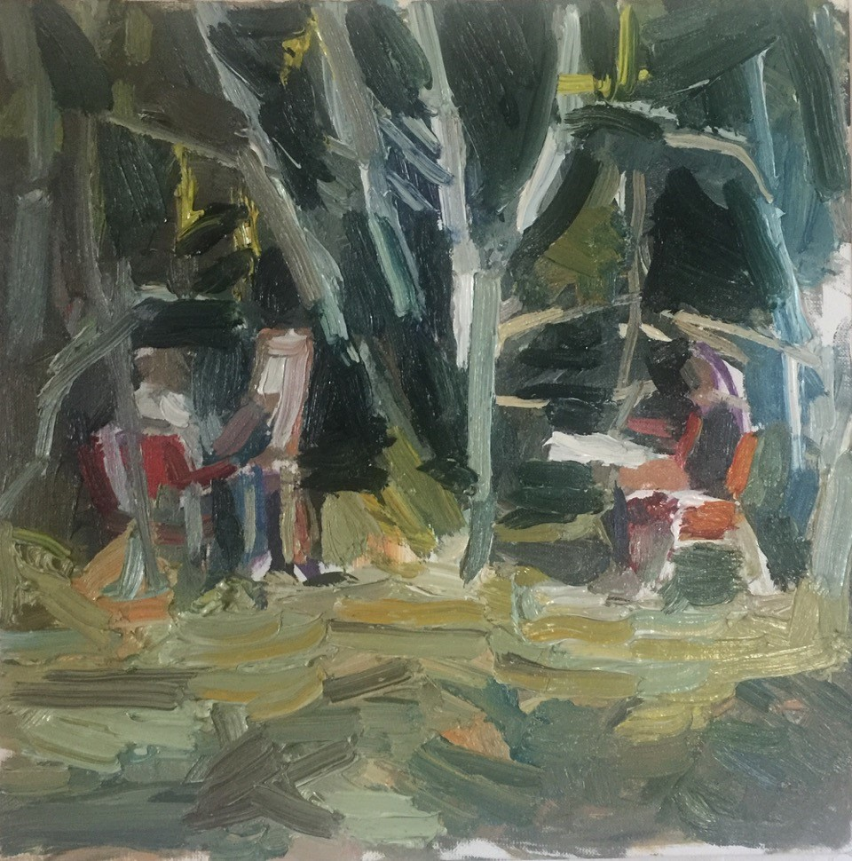 Two Painters Painting in Trees 2018
