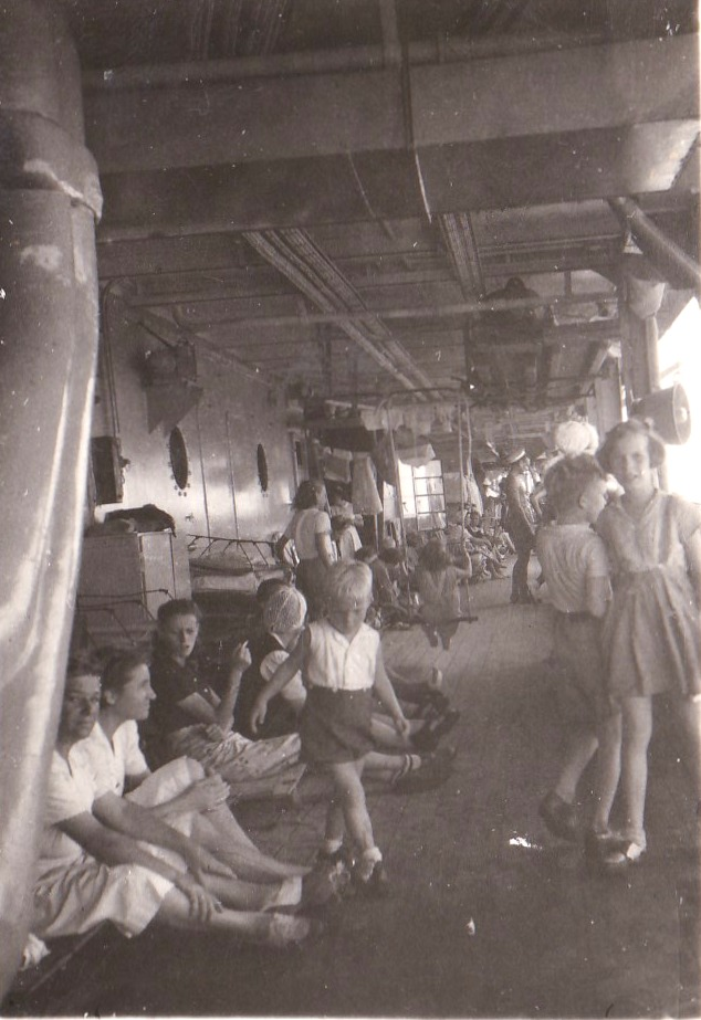 At sea with the Dutch women and children, Surabaya rescue mission.