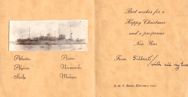 HMS Bulolo - a Christmas card