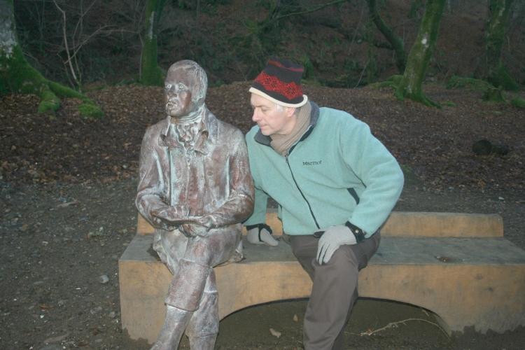 'Moden' Burns statue, Falls of Moness, Aberfeldy, Perthshire