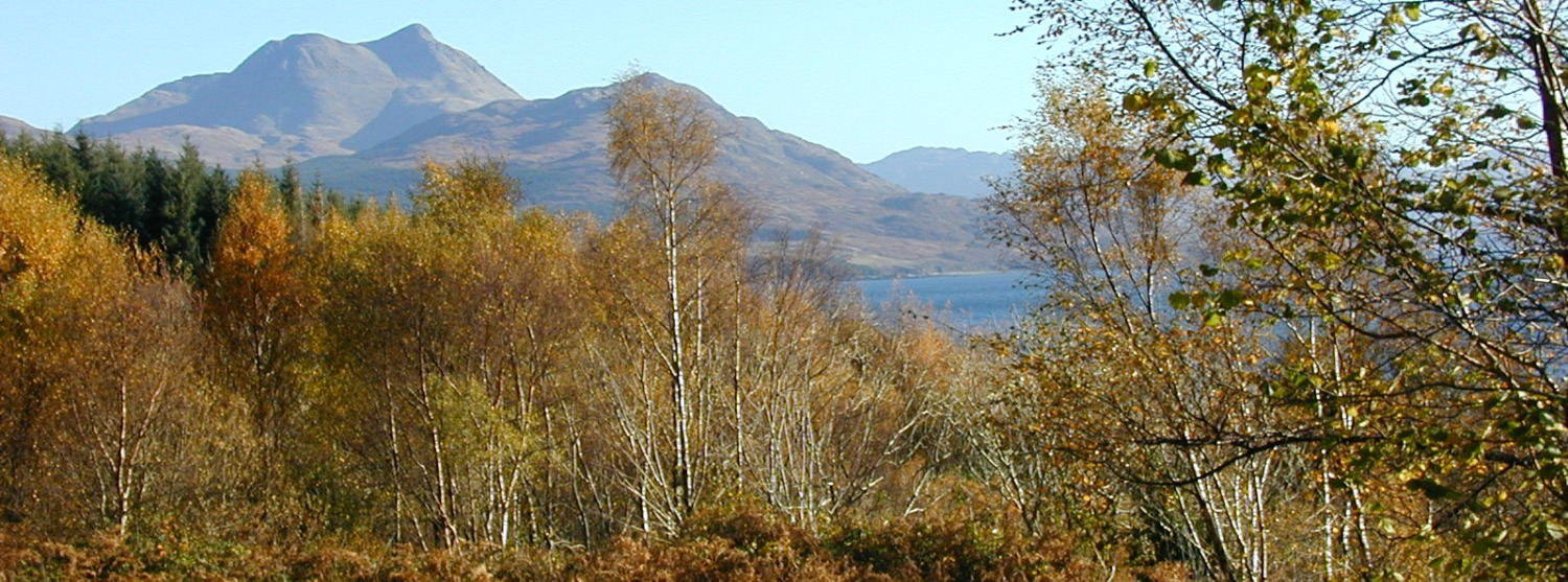 Beinn Sgritheall, looking east from the Isle of Skye, near Kinloch.
