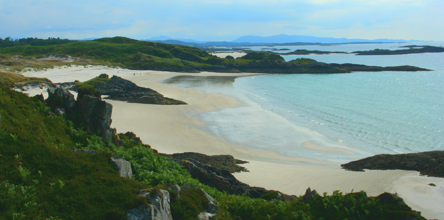 Sands around Morar – one of the locations for the movie 'Local Hero'.