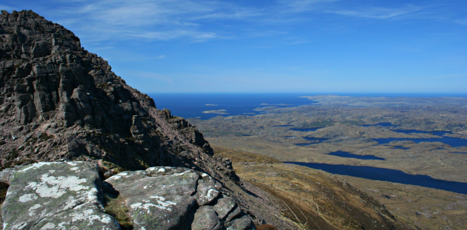 Looking west to the seaboard from Stac Pollaidh