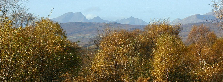 Cuillin Hills of Skye, from near Kinloch