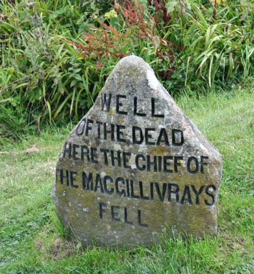 Chief of the Clan MacGillivray memorial at Culloden Battlefield.