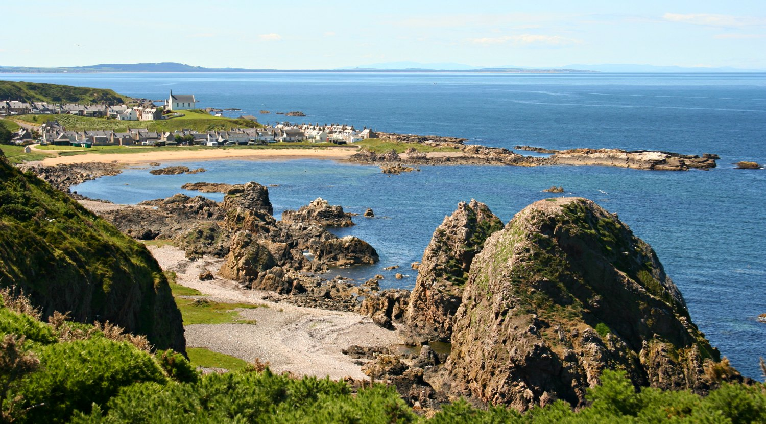 Findochty on the often sunny Moray Firth