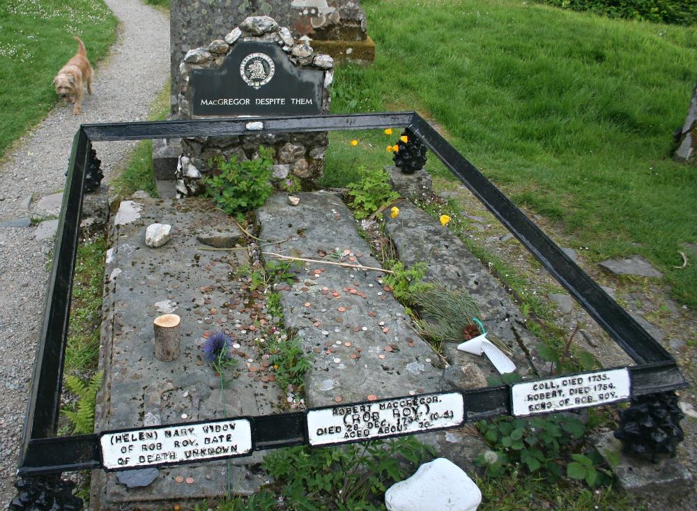 Rob Roy Macgregor's grave, in the Balqhuidder kirkyard