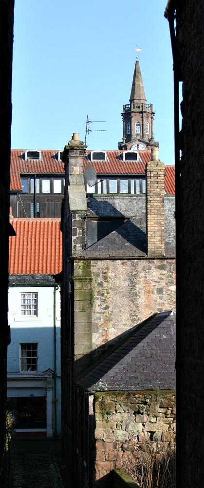 Berwick-upon-Tweed roofscape.
