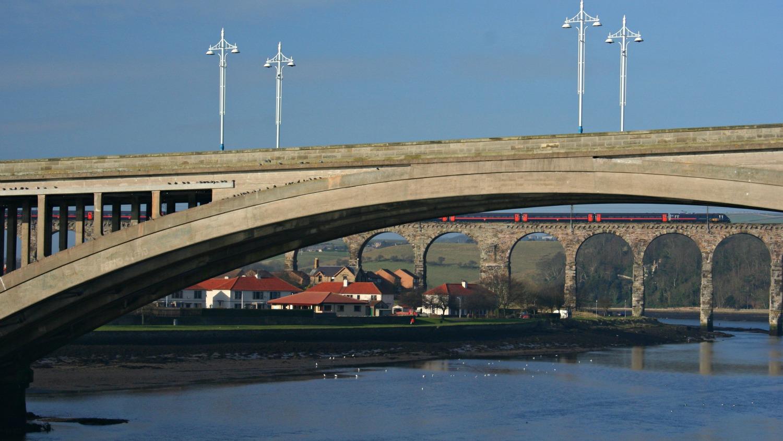 Royal Tweed Bridge with Royal Border Bridge (the rail bridge) behind