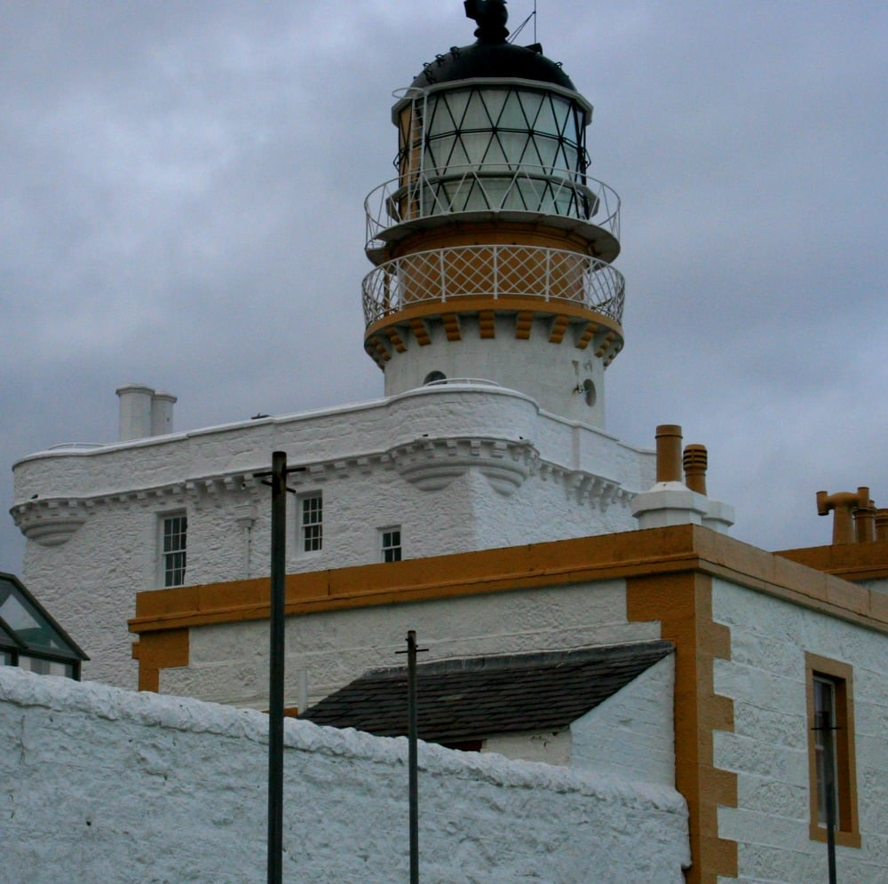 Castle at Kinnaird Head, Fraserburgh, converted into a lighthouse, now part of the Museum of Scottish Lighthouses