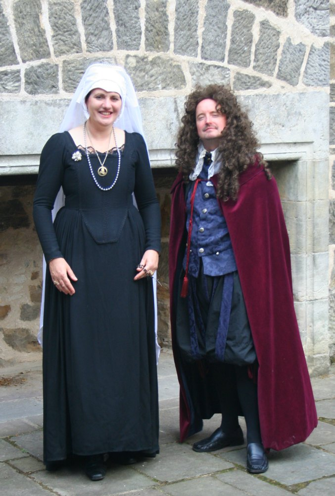 Mary, Queen of Scots, still turns up for re-enactments. This one was at Falkland Palace