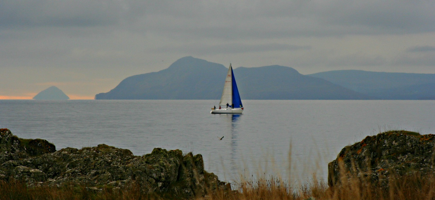 View 'Doon the Watter' from the south tip of the Isle of Bute