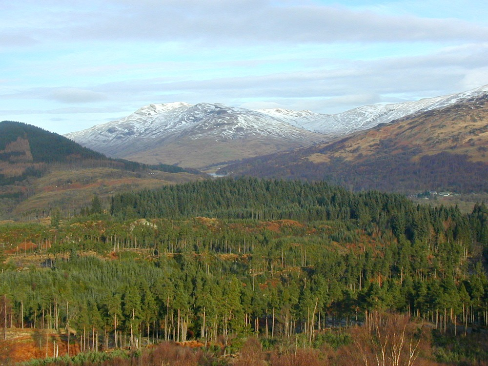 The Trossachs in winter  - a reminder that this is an all-season tour - unless the weather is very bad.