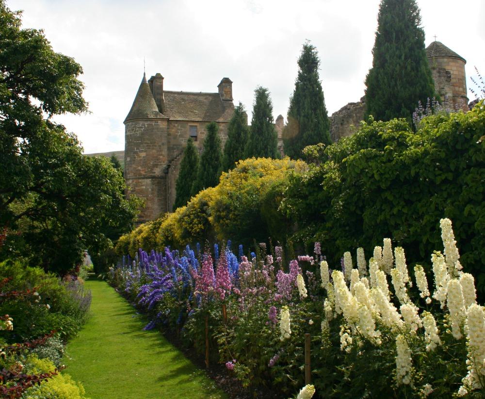The fine gardens of Falkland Palace, Fife.