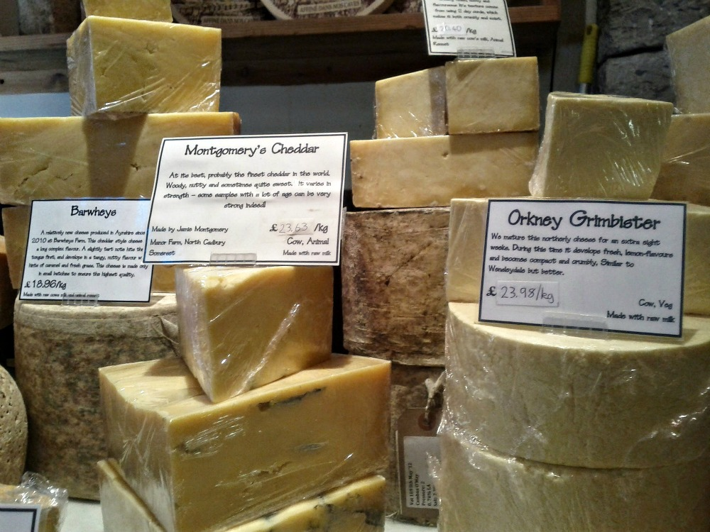 A selection of cheeses made in Scotland (and beyond)