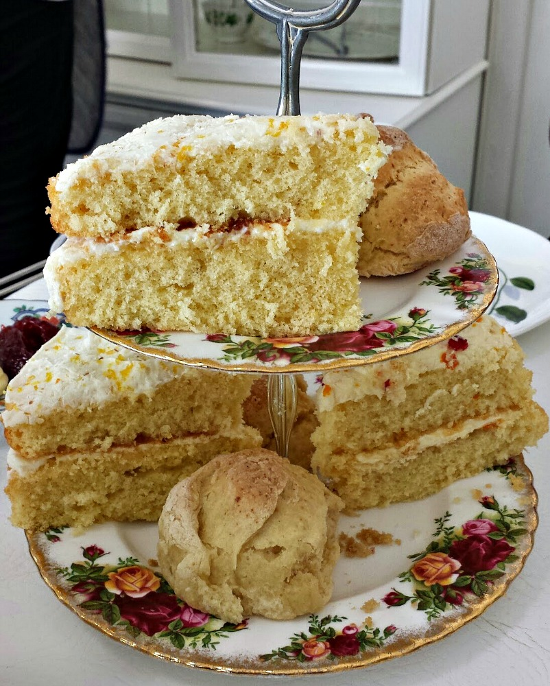 Scottish high tea - home baking should appear on the menu. But if there is nothing cooked with it, then it's just afternoon tea!!