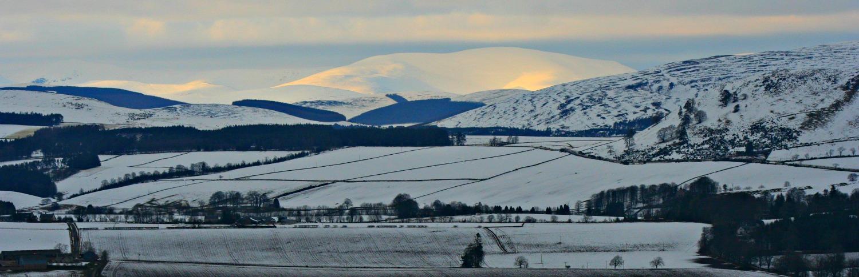 Grampian hills towards Glenshee, from north of Alyth