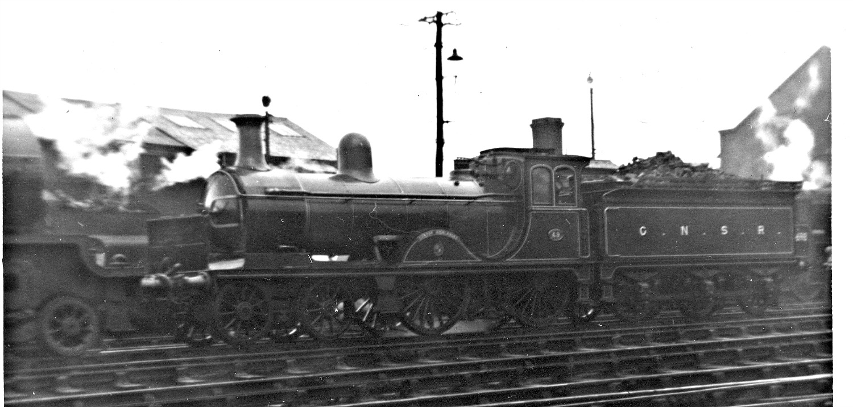 Preserved GNSR loco 'Gordon Highlander, Class D40, in steam at Ferryhill depot, Aberdeen.