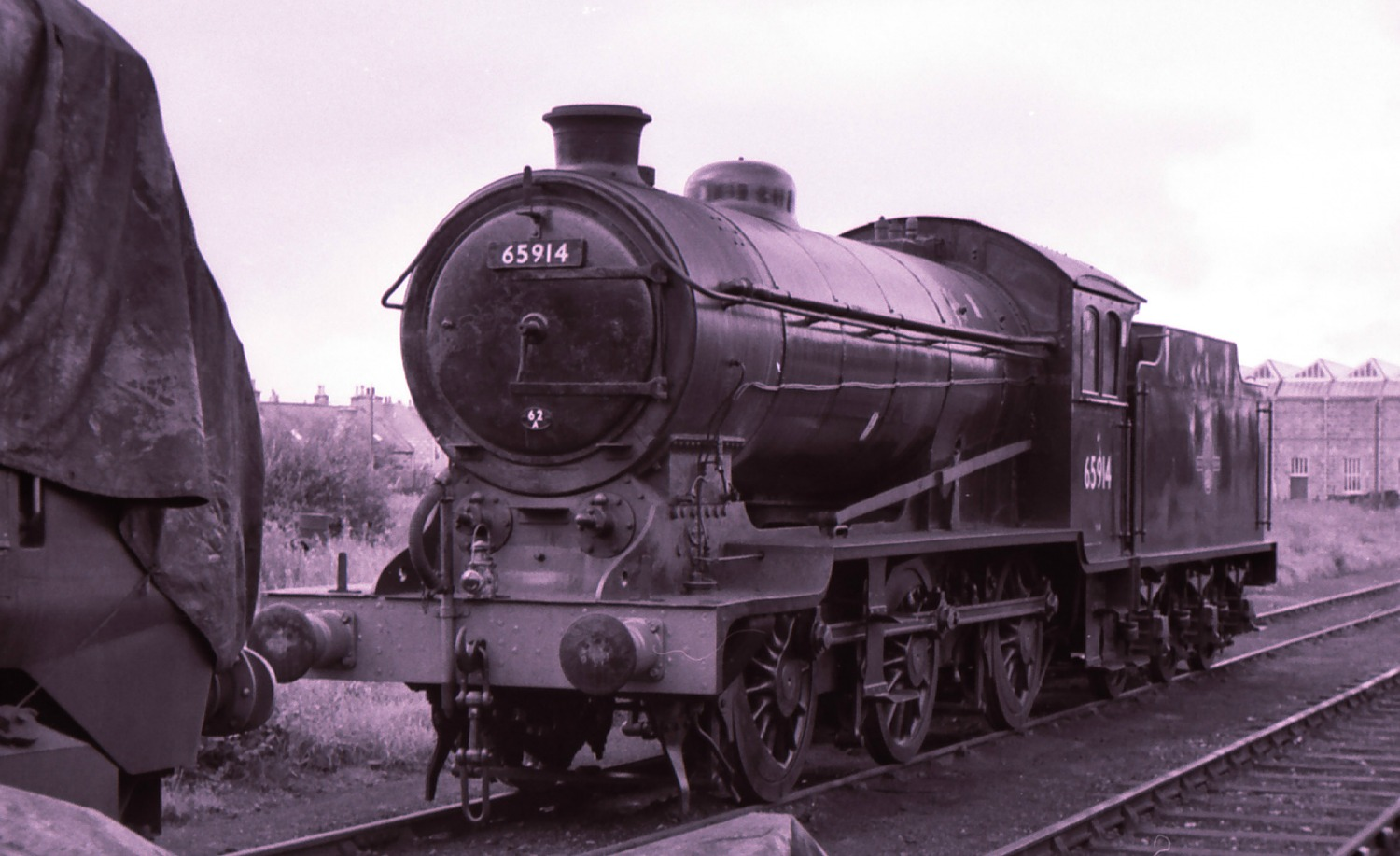 J38 class 0-6-0 65914 at Inverurie loco works, autumn of 1965