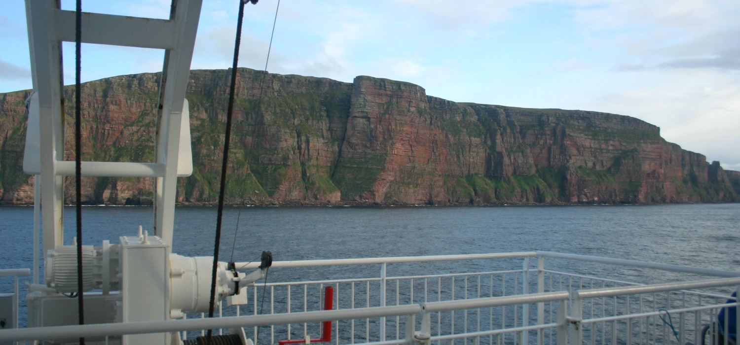 Cliffs of Hoy from the Scrabster/Stromness ferry.
