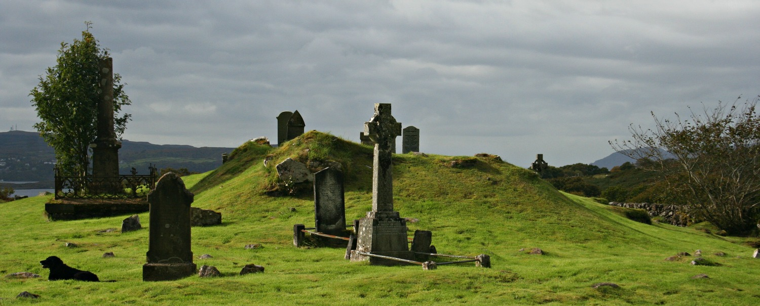 Burial ground, Bunavullin, Morvern, by the Sound of Mull.
