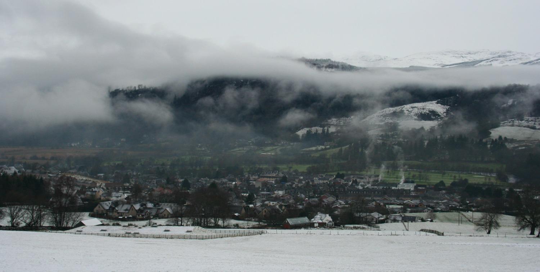 Aberfeldy, Perthshire, in deep winter