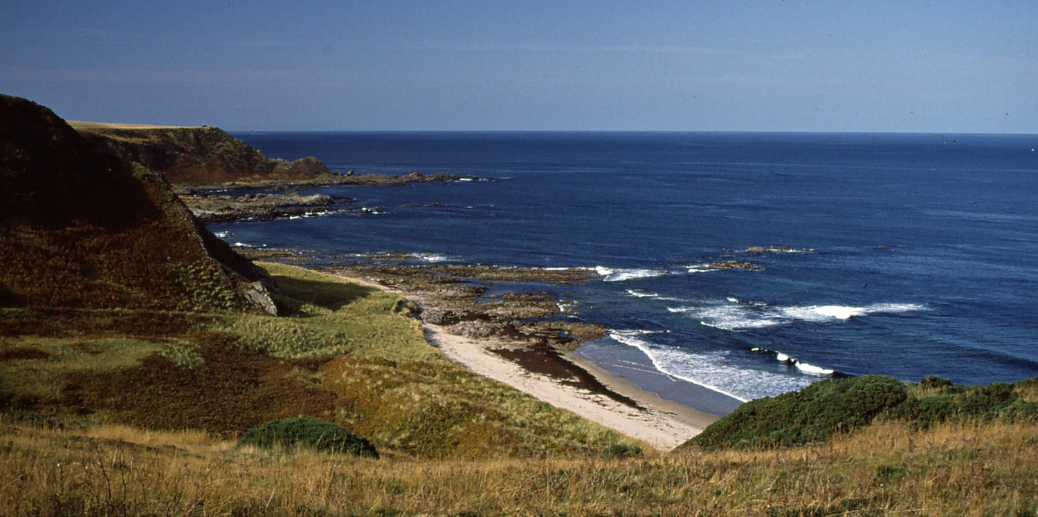 Sunnyside Beach between Portsoy and Cullen on the sunny Moray Firth