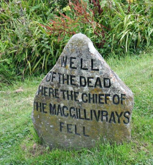 Clan marker at Culloden Battlesite, near Inverness