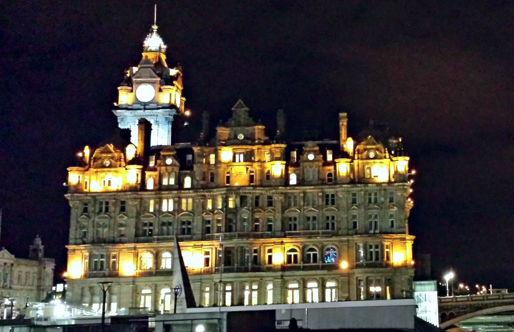 The Balmoral Hotel  in the heart of Edinburgh.