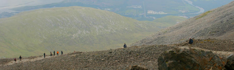On the tourist path, Ben Nevis.